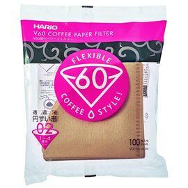 Hario VCF-02-100M Бумажные фильтры V60 02 натуральные 100 шт, фото
