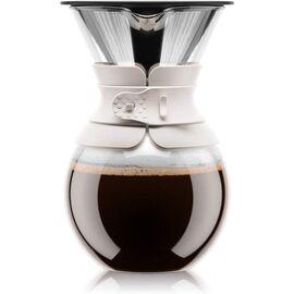 Bodum 11571-913S Pour Over Пуровер с постоянным фильтром белый, фото
