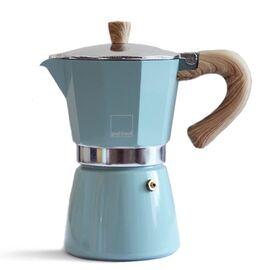 Gnali&Zani Venezia Гейзерная кофеварка на 9 чашек голубая, фото
