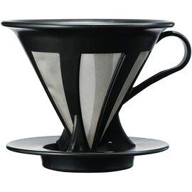 Hario CFOD-02B Cafeor Пуровер V60 02 с металлическим фильтром черный, фото