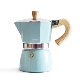 Gnali&Zani Venezia Гейзерная кофеварка на 3 чашки голубая, фото