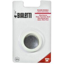 Bialetti 3 уплотнителя + 1 фильтр для гейзерных кофеварок на 3-4 чашки, фото