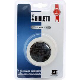 Bialetti 3 уплотнителя + 1 фильтр для гейзерных кофеварок на 4 чашки, фото