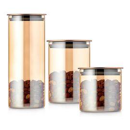 Walmer Loft Набор банок для хранения 3 шт: 0.5 л + 0.8 л + 1.5 л, фото