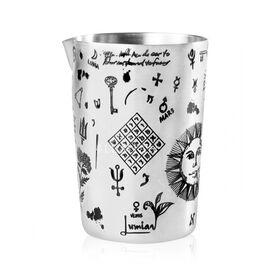 Lumian Sakura Alchemy Смесительный стакан 500 мл серебро с гравировкой, фото