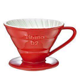 Tiamo HG5544R Керамический пуровер V02 красный, фото