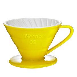 Tiamo HG5544Y Керамический пуровер V02 желтый, фото